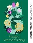 congratulations on march 8.... | Shutterstock .eps vector #590641877