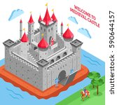 isometric colored middle ages... | Shutterstock .eps vector #590644157