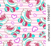 vector seamless pattern with... | Shutterstock .eps vector #590648537