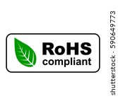 rohs compliant sign with green... | Shutterstock .eps vector #590649773