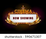 theater sign.cinema sign.las... | Shutterstock .eps vector #590671307
