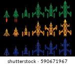 vector video game space ship...