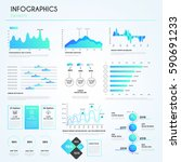 big infographic elements... | Shutterstock .eps vector #590691233