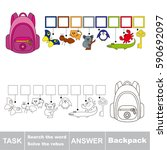 educational puzzle game for... | Shutterstock .eps vector #590692097