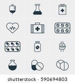 illustration of 12 medical... | Shutterstock . vector #590694803