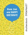 fun birthday card design with... | Shutterstock .eps vector #590696657