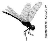 Vector dragonfly represented in the form of a tattoo - stock vector