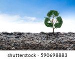 concept recycle big alone tree...   Shutterstock . vector #590698883