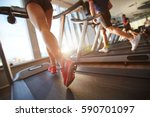 low angle view of male and... | Shutterstock . vector #590701097