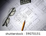 drawings of building homes and... | Shutterstock . vector #59070151