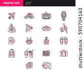universal simple travel icons...