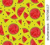 bright appetizing seamless... | Shutterstock . vector #590708117