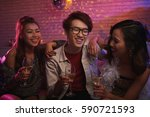 vietnamese young people... | Shutterstock . vector #590721593