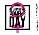 international women s day... | Shutterstock .eps vector #590722037
