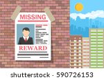 wanted man paper poster.... | Shutterstock .eps vector #590726153