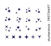 vector sparkles black symbols....   Shutterstock .eps vector #590734697