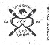 ski club concept. ski club... | Shutterstock . vector #590738363