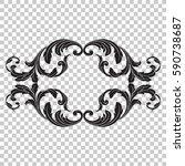 isolate vintage baroque...   Shutterstock .eps vector #590738687