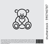 web line icon. teddy bear ... | Shutterstock .eps vector #590740787