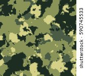 camouflage pixel fashion... | Shutterstock .eps vector #590745533