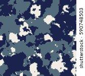 us navy digital camouflage... | Shutterstock .eps vector #590748503