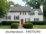 modern house with red door   Shutterstock . vector #59075290
