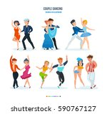 couple dancing concept. young... | Shutterstock .eps vector #590767127