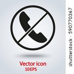 vector icon no phone | Shutterstock .eps vector #590770367