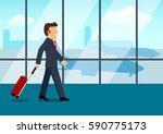 simple cartoon of a businessman ... | Shutterstock .eps vector #590775173