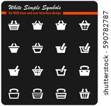 basket vector icons for user... | Shutterstock .eps vector #590782787
