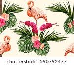 beautiful seamless vector...   Shutterstock .eps vector #590792477