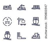 tanker icons set. set of 9... | Shutterstock .eps vector #590803547