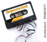 Small photo of progressive rock musical genres audio tape label