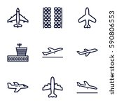 airplane icons set. set of 9... | Shutterstock .eps vector #590806553