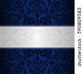 vector vintage floral... | Shutterstock .eps vector #590809583