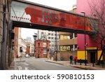 manchester  uk   february 26 ... | Shutterstock . vector #590810153