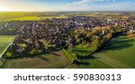 aerial sunrise view of epworth  ... | Shutterstock . vector #590830313