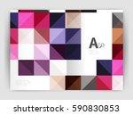 minimalistic square brochure or ...   Shutterstock .eps vector #590830853