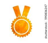 gold modern polygonal icon for... | Shutterstock .eps vector #590836247