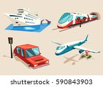 car or auto  yacht or ship ... | Shutterstock .eps vector #590843903