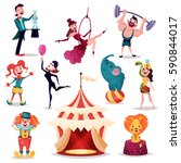 circus tent  camp or amusement... | Shutterstock .eps vector #590844017
