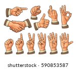 male hand sign. fist  like ... | Shutterstock .eps vector #590853587
