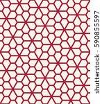 abstract geometric pentagon...   Shutterstock .eps vector #590855597