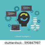 artificial intelligence concept.... | Shutterstock .eps vector #590867987