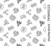 trading seamless pattern... | Shutterstock .eps vector #590890223