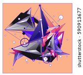 vector of triangle fractal... | Shutterstock .eps vector #590913677