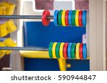 wood baby playground  abacus... | Shutterstock . vector #590944847