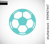soccer ball icon flat. | Shutterstock .eps vector #590987447
