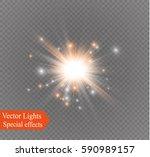 glow light effect. star burst... | Shutterstock .eps vector #590989157