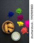 holi  festival of colors.... | Shutterstock . vector #590989883